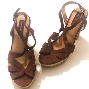 NWOT NURTURE Mauve Strappy and Chunky Heels